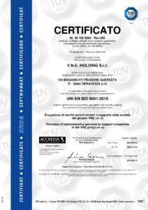 Certificato ISO 9001 2015 VNE Holding Srl pdf 212x300 - Certificato ISO 9001 2015 - VNE Holding Srl - vne -