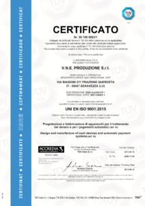 Certificato ISO 9001 2015 VNE Produzione Srl 1 212x300 - La qualità di VNE certificata TÜV SÜD - vne - news