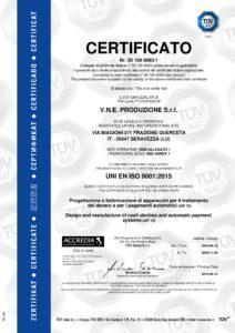 Certificato ISO 9001 2015 VNE Produzione Srl pdf 2 212x300 - Certificato ISO 9001 2015- VNE Produzione Srl - vne -